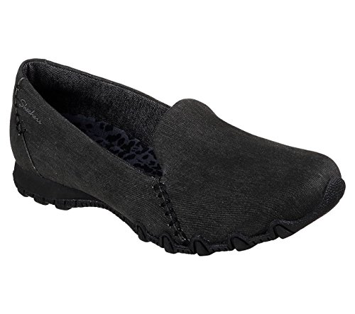 Skechers Relaxed Fit Bikers Smokin Womens Slip On Loafers Black 7