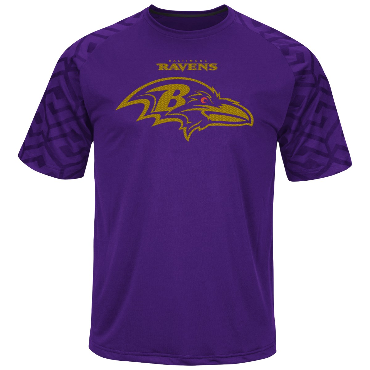 "Baltimore Ravens Majestic NFL ""Skill in Motion"" Men's Cool Base T-Shirt by Majestic"