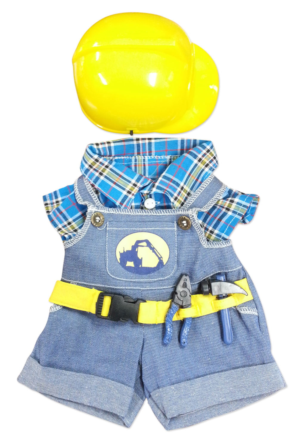 "Click here to buy Construction Worker with Hard Hat Teddy Bear Clothes Fits Most 14""-18"" Build-a-bear and Make Your... by Bear Factory."