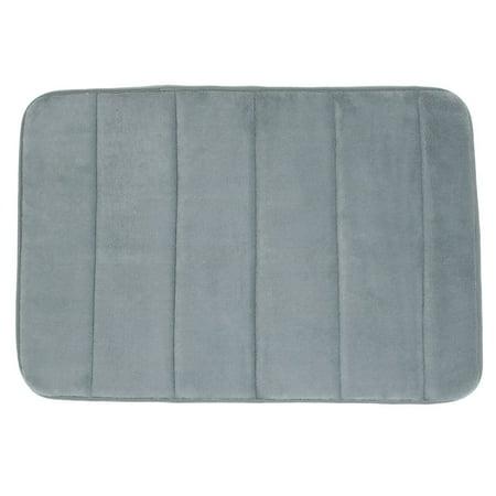 Bathroom Coral Fleece Slip Resistant Water Absorbent Floor Mat Pad Doormat Gray ()