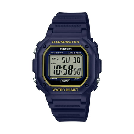 Water Resistant Sapphire Crystal Watch - Casio Men's Illuminator Water Resistant Digital Watch - Blue