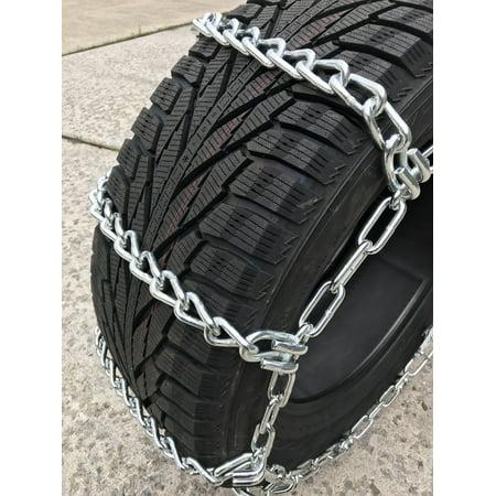 Compatible with Ram 3500 Tradesman 4x2 (DRW) 2013-2014 LT235/80R17 Load Range E Tire Chains - image 3 de 4