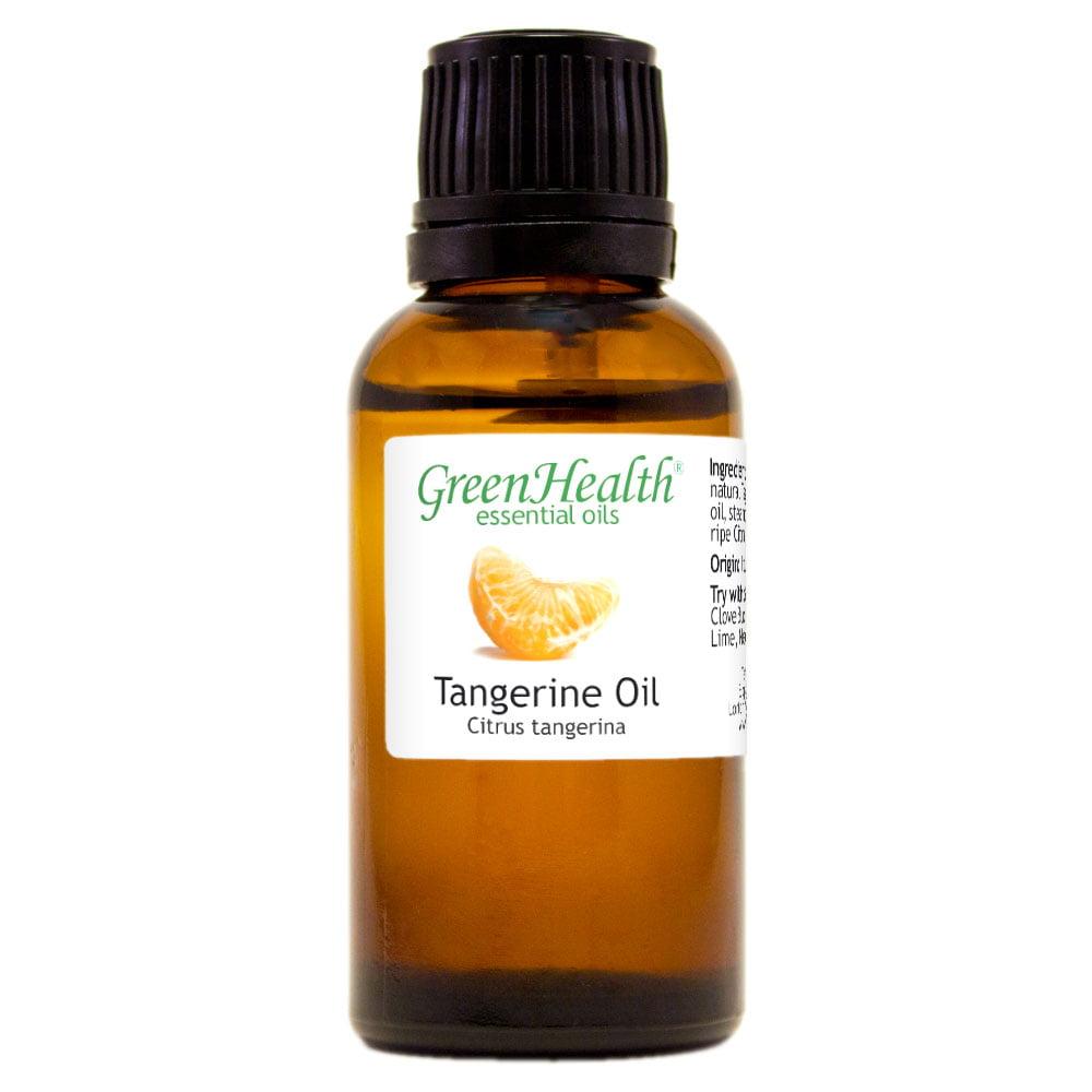 Tangerine Essential Oil - 1 fl oz (30 ml) Glass Bottle w/ Euro Dropper - 100% Pure Essential Oil by GreenHealth