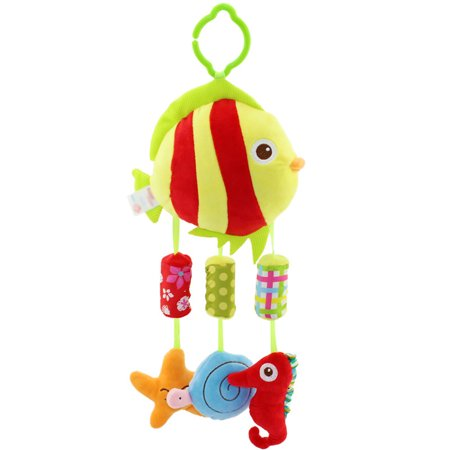 Baby Cartoon Wind Chimes Crib Stroller Rattle Decoration Toddler Infant Intellectual Hanging Animal Bell Toy Christmas Gift Style:Goldfish