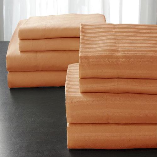 Elite Home Microfiber Bedding Sheet Set, 2 pack