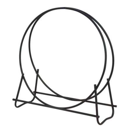 - Uniflame Black Finish 48 in. Diameter Tubular Log Hoop