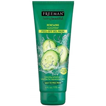 Freeman Feeling Beautiful Facial Peel-Off Mask Cucumber 6 oz (Aqua Firming Facial Mask)