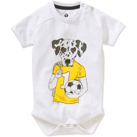 Genevieve Goings Collection by Newborn Baby Boys' Soccer Dog Graphic Bodysuit