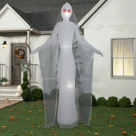 Halloween Airblown Inflatable 12 ft. Ghostly Female by Gemmy Industries (Halloween Mantel Decor)