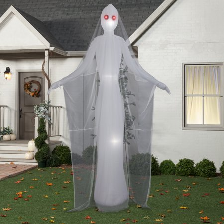 Halloween Airblown Inflatable 12 ft. Ghostly Female by Gemmy - Inflatable Halloween Cat Archway