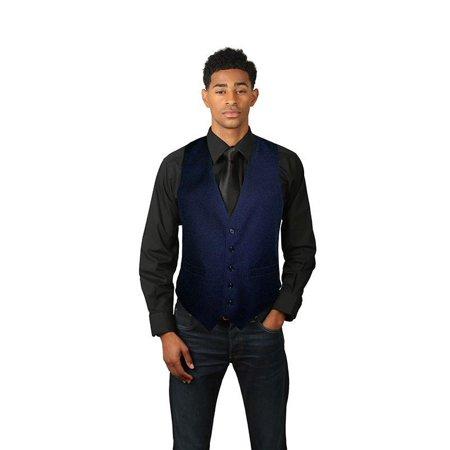 Men's Full Back Dress Vest (Mens Brown Vest)