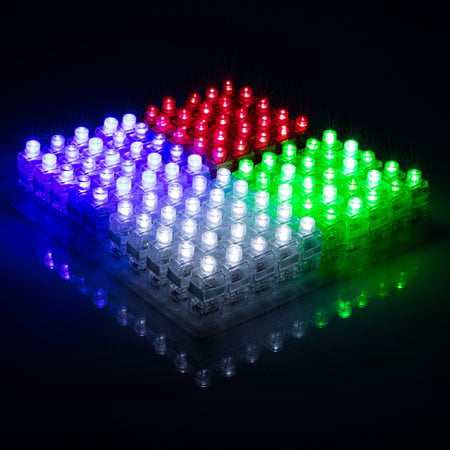 100pcs LED Finger Light Up Ring Laser LED Rave Party Favors Glow Beams (Assorted Color)](Led Glow Rings)
