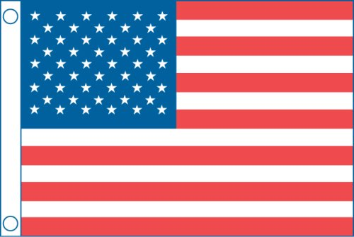"""2418 50 Star Us Boat Flag (12"""" x 18""""), Perma-print dyed nylon with reinforced nylon heading By Taylor Made Products by"""