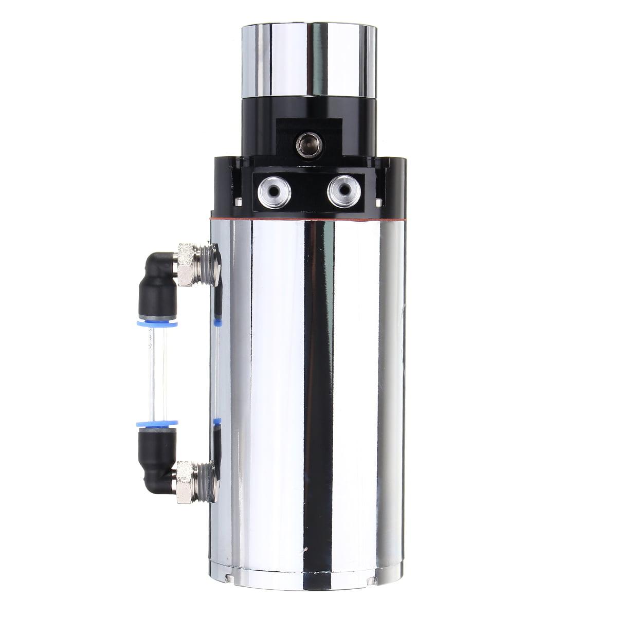CHROME ENGINE OIL CATCH RESERVOIR BREATHER TANK//CAN VACUUM PRESSURE GAUGE
