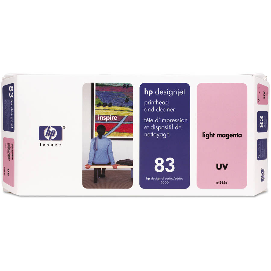 HP C4965A (HP 83) UV Printhead and Cleaner, UV Light Magenta