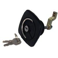 Perko 1081DP1BLK Flush Lock & Latch - Offset Cam Bar, Flexible Strike