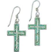 Western Women Earring Inlaid Cut Cross 1 311-296