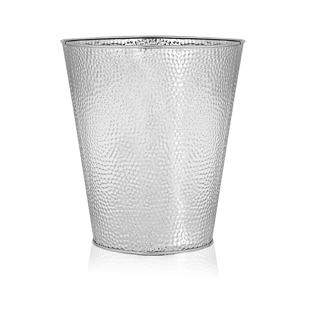 Wastebasket For Bedroom Bathroom Trash Can 6 Liters Silver