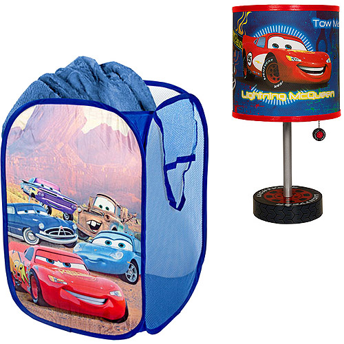 Disney - Cars Table Lamp & Pop-Up Hamper - Value Bundle
