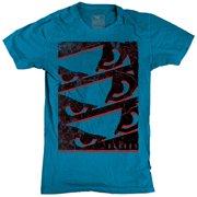 Youth Stack Em' Up T-Shirt - Medium - Turquoise