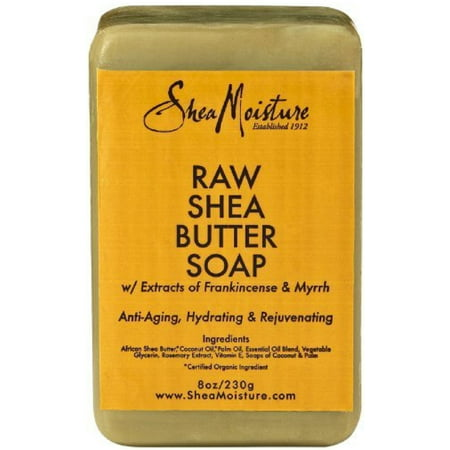 3 Pack - Shea Moisture Raw Shea Butter Bar Soap 8 - Raw Shea Butter Soap