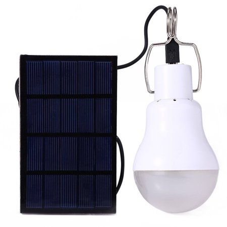 Solar Powered LED Light Bulb Upgrades Portable 130LM Solar LED Lights Lamp for Indoor Emergency Reading and Outdoor Hiking Camping Tent