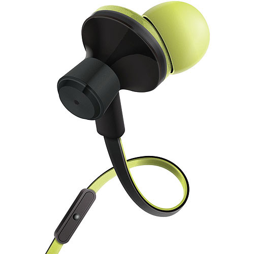 GOgroove audiOHM iDX Stereo Earbuds with Hands-Free Microphone, Noise Isolation and Included Velvet Carrying Bag, Blue