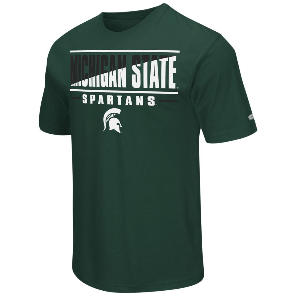 Michigan State University Men's T-Shirt Two Face Short Sleeve Tee
