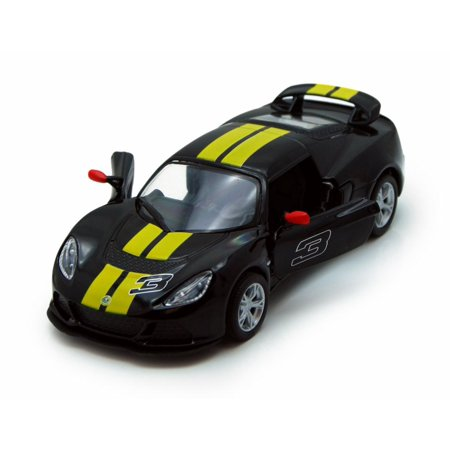 2012 Lotus Exige S Hard Top #3, Black with Yellow Stripes - Kinsmart 5361DF - 1/32 Scale Diecast Model Replica (Brand New, but NOT IN (2012 Stripe)