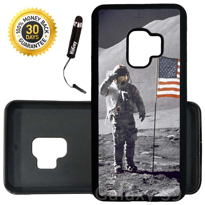 Custom Galaxy S9 Case (NASA Moon Landing) Edge-to-Edge Rubber Black Cover Ultra Slim | Lightweight | Includes Stylus Pen by Innosub