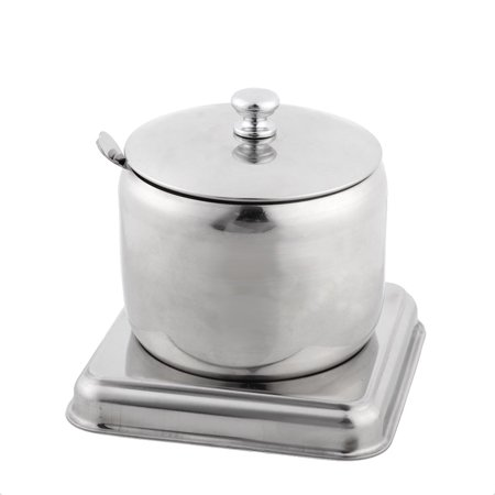 Stainess Stell Drum Style Moveable Base Spice Salt Pepper Condiment Cruet Can