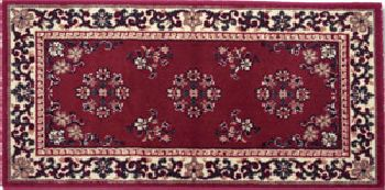 Click here to buy 22 x 44 Burgundy Oriental Virgin Wool Hearth Rug by Shop Chimney.