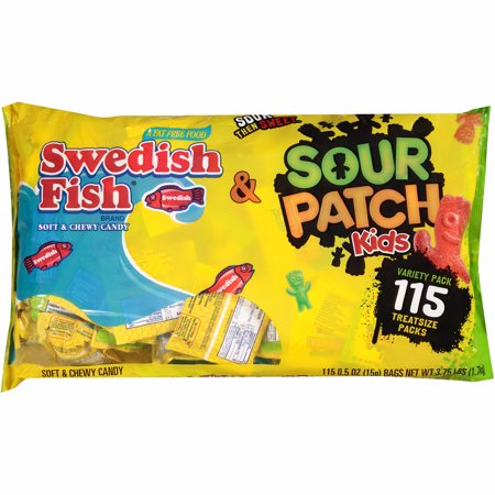 Swedish Fish And Sour Patch Variety Pack, 115 Ct - Halloween Snakes