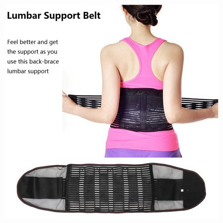 NEOPRENE DELUXE BELT DOUBLE PULL Lumbar Lower Back Support Brace - Many Sizes ()