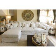 Bella Fabric Collection Sectional in Sand