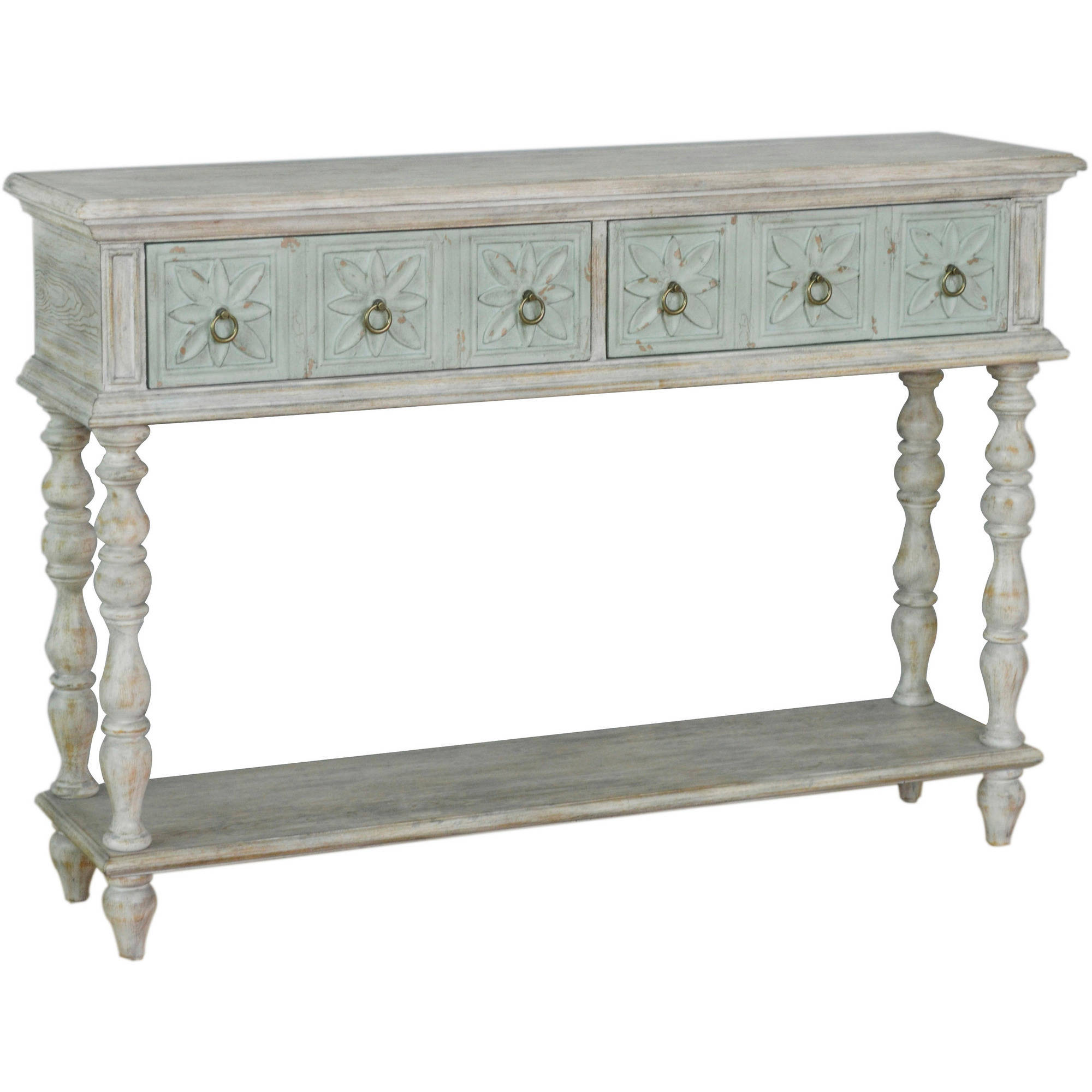 2-Tone Drawer Console Table