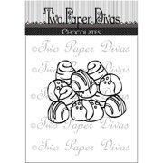 "Two Paper Divas Clear Stamps 6""X4.5""-Chocolates, Pk 2, Two Paper Divas"