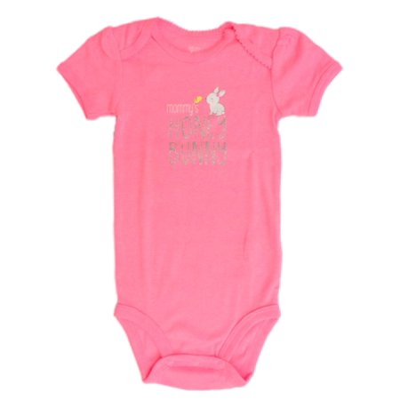 Infant Girls Pink Mommy's Honey Bunny Easter Outfit Baby Rabbit Bodysuit