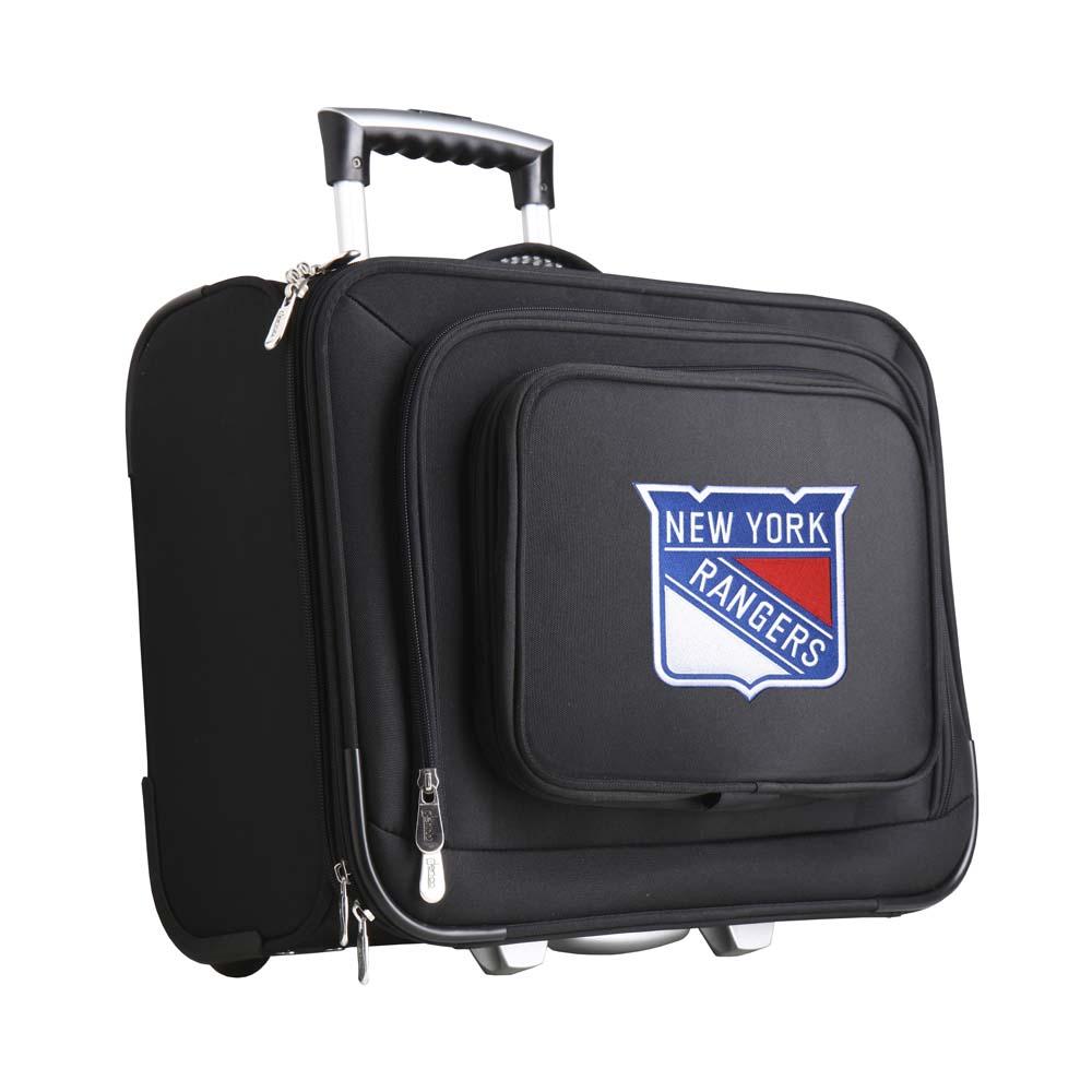 Denco NHL Wheeled Laptop Overnighter, New York Rangers by Mojo Licensing