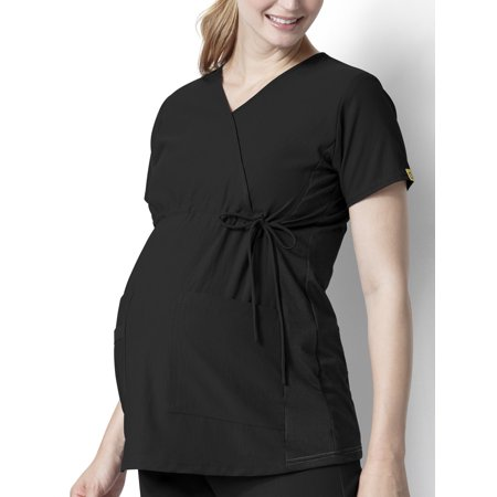 WonderWink Maternity Mock Wrap Top Scrub Top