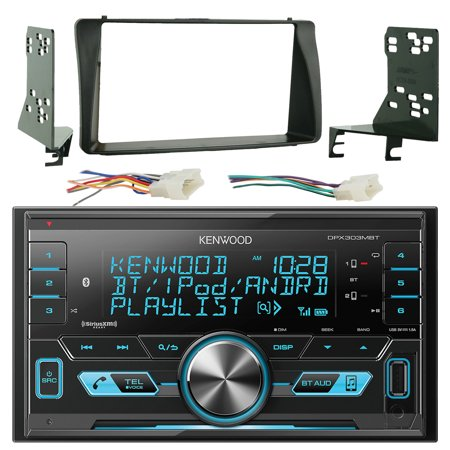 Kenwood DPX303MBT Double Din CD MP3 Player Stereo Receiver Bundle Combo With Metra 2-Din installation Dash Kit + Wiring Radio Harness & Wireless Handset For 2003-08 Toyota Corola Car Vehicles