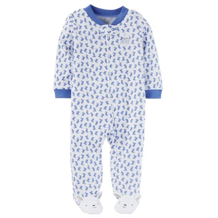 59a837438 Carters Infant Boys My First Easter Sleeper Blue Bunny Rabbit Footie  Pajamas - Walmart.com