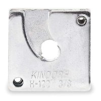 KINDORF H 122 1/4 EG Channel Nut,1/4 In,Silver