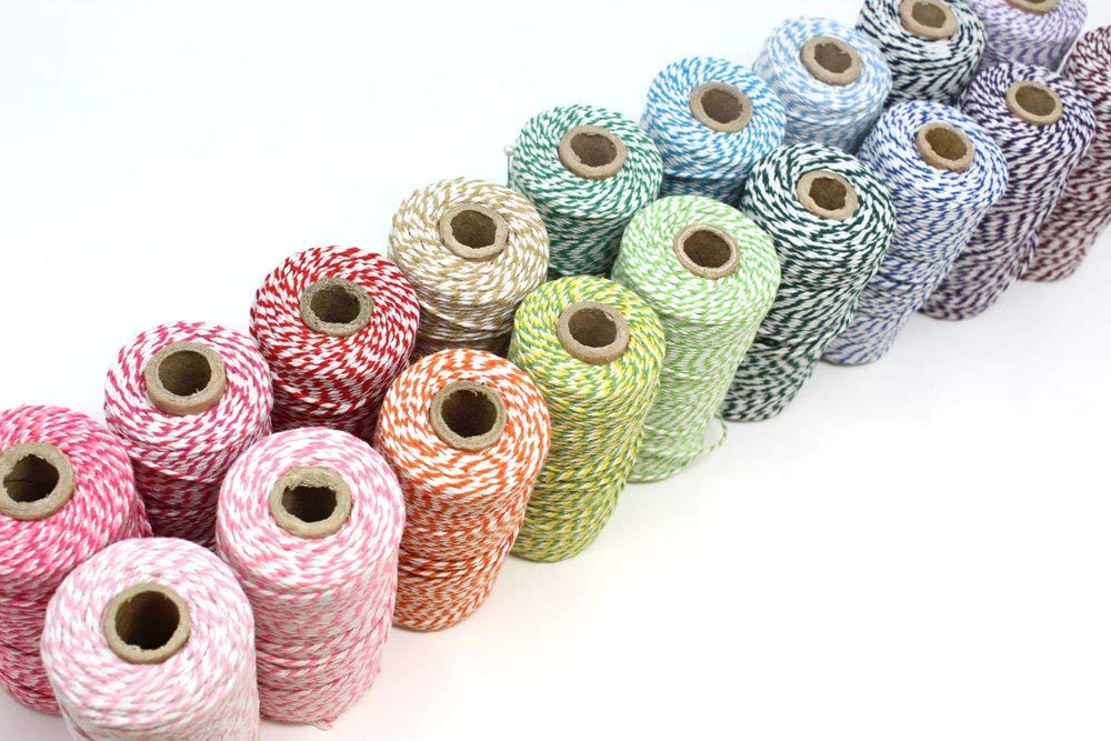 Bakers Twine Baby Shower Bridal Shower Decor 12 Ply Bakers Twine Cream Bakers Twine 100 Yard Spool of Twine Rustic Wedding Favor Twine