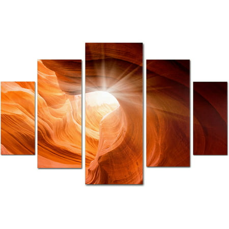 Trademark Fine Art Smooth Ii Canvas Set By Moises Levy 5pc Panel