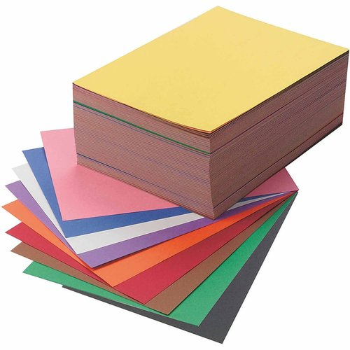 "SunWorks Groundwood Construction Paper, 9"" x 12"", 10-Color, Pack of 500"