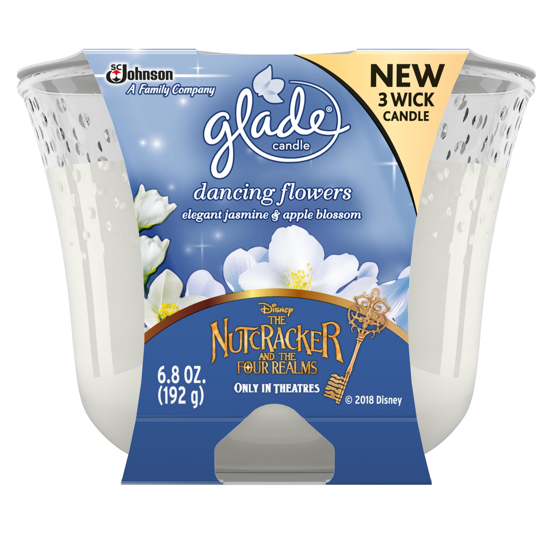 Glade 3 Wick Air Freshener, Dancing Flowers, 6.8 oz