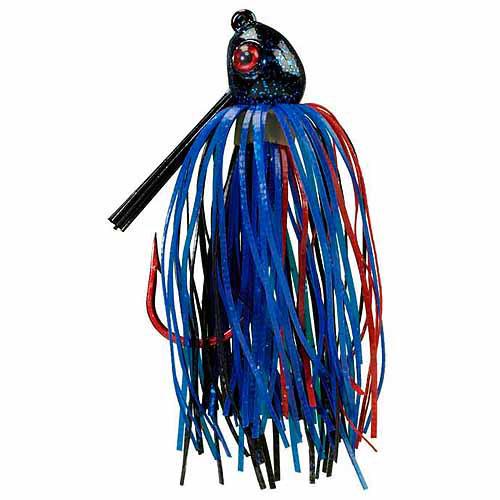 Strike King Bleeding Jig, Black/Blue