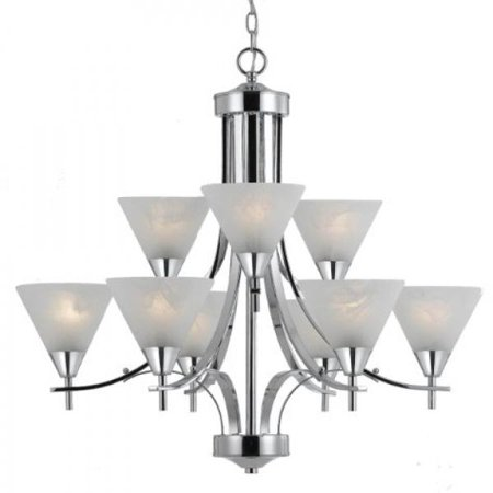 Triarch international 33324 value series 310 9 light 2 tier triarch international 33324 value series 310 9 light 2 tier chandelier with white swirl aloadofball Image collections