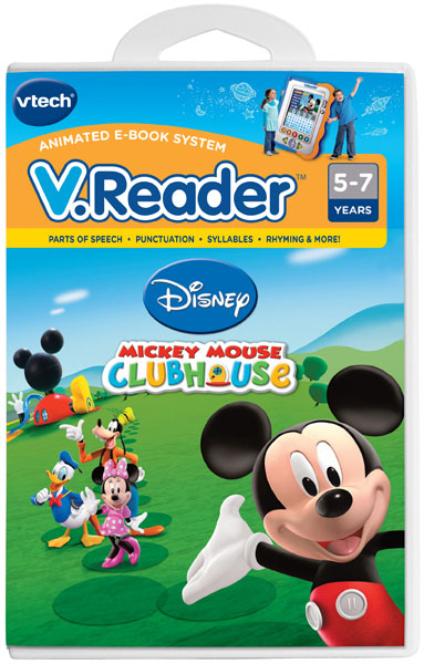 VTech V.Reader Animated E-Book System Book, Mickey Mouse Clubhouse